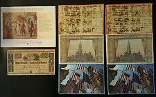 Postrcards Calandar Bill Americana Patriotism Bicentennial 1776