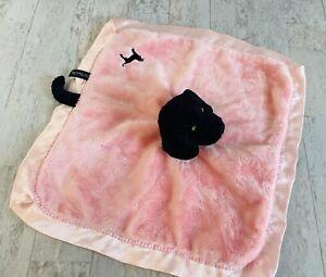 The Black Dog Tavern Co.Pink Satin Plush Labrador Security Blanket Lovey Tail