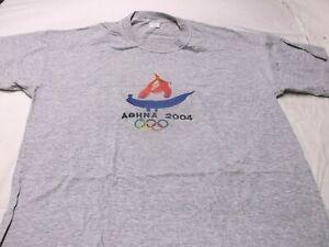 Olympic 2004 Athens Greece T Shirt Adult XL short Sleeve