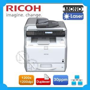 Ricoh SP3610SF 3-in-1 Mono Laser Network MFP Printer+Auto Duplexer 30PPM 1200DPI