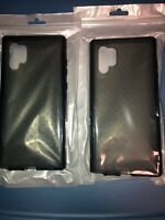 Lot Of 2pc Tech21 EVO CHECK for Samsung Galaxy Note 10+ CASE  Flexshock Smoke