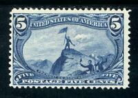 USAstamps Unused FVF US 1898 Tran-Mississippi Fremont on Rocky Scott 288 OG MHR