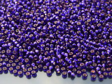 250g 91427 Dyed Silver Lined Dark Violet Miyuki Japanese Seed Beads Round Size 8