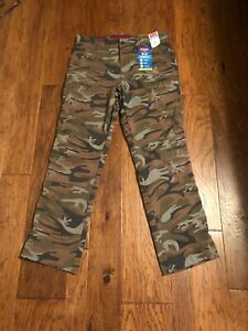 NWT Wrangler Men's Camouflage Straight Flex Fit Cargo Performance Pants 36X32