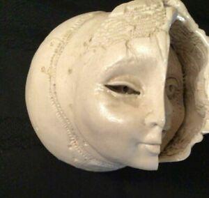 1987 Original Gerald Gedekes Signed Hinged Ceramic Modern Art Box Woman Emerging