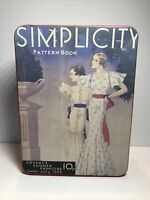 Vintage Simplicity Pattern Book Metal Tin Container The Tin Box Company 1988 VGC