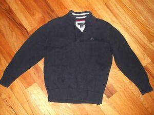 Tommy Hilfiger Classic Navy 1/4 Zip Pullover Sweater 4 4T