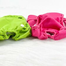 Lot Of 3 Luxja Reusable Female Dog Pink Green Diapers Washable Wraps Size Large