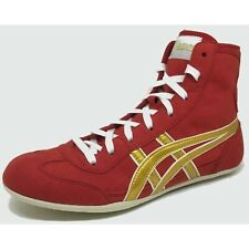 Asics Japan Wrestling Boxing Shoes Ex-Eo Red Gold Color Tps-160S Flat Sole