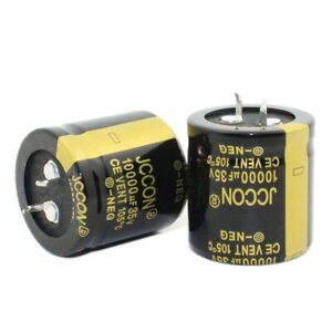 2PC 10000uF 35V Snap-in Electrolytic Radial Capacitors 105C 30x30mm