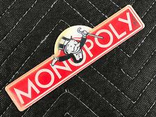 NOS Stern Monopoly Pinball Machine Playfield Promo Logo Plastic FREE SHIP