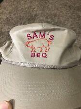 Sam's BBQ Ribs Pork Butt Brisket Pig Bacon Tan SnapBack Baseball Cap
