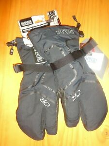OUTDOOR  RESEARCH   MENS  BLACK  HIGHCAMP 3-FINGER GLOVES NWT SZ L