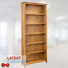 Wooden Bookcase Book Shelf Furniture Storage 6 Tier Timber Oak Display Unit