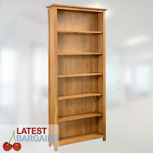 Wooden Bookcase Book Shelf Furniture Storage 6 Tier Timber Oak Display Unit