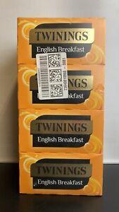400 x Twinings English Breakfast Tea Bags (Multipack 4 x 100 Teabags)