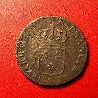 #1503 - RARE - Louis XV Sol au buste enfantin 1720 S Troyes RARE - FACTURE