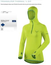NEW Dynafit Transalper Womens Small Yellow Thermal Layer Ski Jacket Msrp$140
