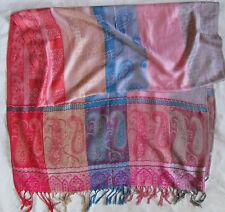 Belle Echarpe type étole  soie et laine  vintage Scarf /
