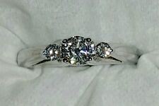3 Brilliant Diamond Ring, 3/8ct tw G/SI, 14kt white gold, size 7.