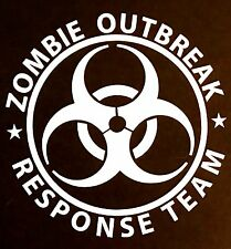 ZOMBIE OUTBREAK DECAL STICKER CAR SUV TRUCK CHEVY FORD DODGE GMC VW HONDA JDM