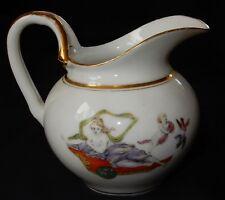 C'/ Pichet ancien/Verseuse Porcelaine de Paris XIXème (superbe décor polychrome)
