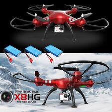 3 Akkus Syma X8HG 8MP HD Kamera Intelligente Höhe Halten RC Quadcopter Drohne