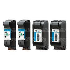 4Pk for HP 51645A HP C6578DN Black Color Ink Cartridge HP 45 HP 78
