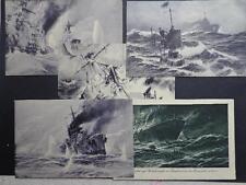 Germany Reich WW1  postcards different War scenes War Ships XX Rare