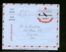 LOT 73319 USED WEBB A25 Sc UA22 1st DAY OF SALE AIR LETTER LEAF OVER PLANE ISSUE