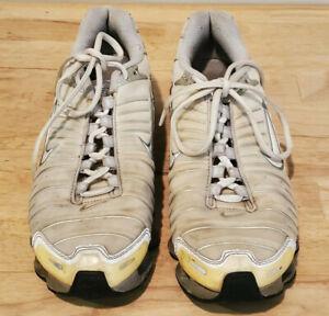 Nike Women Shoe Shox TL Size 8.5M Sneaker Athletic Running White Grey