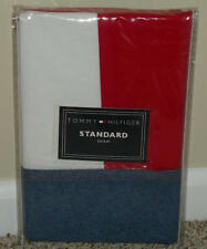 NEW Tommy Hilfiger DENIM FLAG Red White Chambray Blue STANDARD PILLOW SHAM (1)