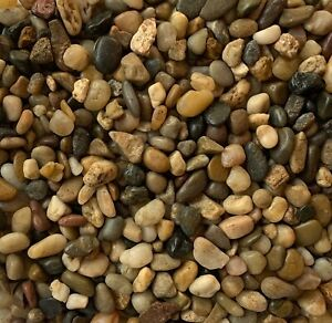Natural Polished Small River Pebbles Stones Rocks Mixed Colour Water Plant Decor