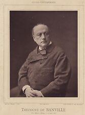 Théodore de Banville Photo Tourtin Tirage Photoglyptie Galerie Contemporaine