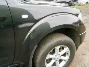 NISSAN NAVARA D40 2005 RIGHT DRIVERS OFF SIDE FRONT WING IN GN0 BLACK 2004-2010