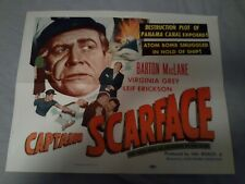 SCARFACE (Barton MacLane) HIS SOUL WAS AS CROOKED AS HIS SCAR (1953)