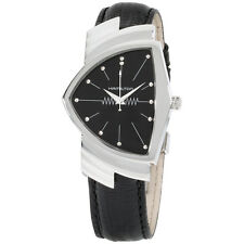 Hamilton Ventura 31mm Analog Display Quartz Black Leather Men's Watch H24411732