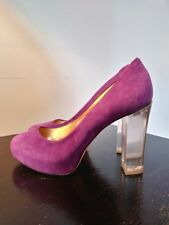 Report Signature purple suede pumps with lucite heels size 8.5