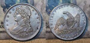 1837 Capped Bust Half Dollar 50c Choice AU Beautiful !!