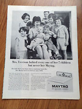 1965 Maytag Washer Ad  The Roy Trevisan Family of Detroit Michigan