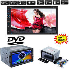 "7"" Double DIN Car Radio CD DVD MP3 Player Stereo GPS Sat Nav TV/USB/TF/FM +8G TF"