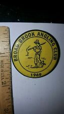 BROAD BROOK ANGLING CLUB CONNCETICUT? 1969 PIN BUTTON LOOK!