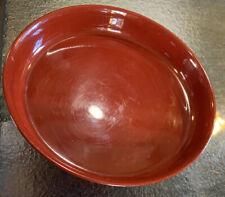 "Red Lacquerware Pedestal Plate Japan 6""X 2.5"" Rare"