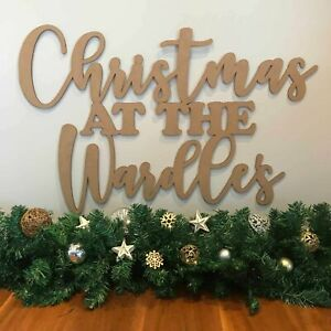 Personalised Christmas Wall Sign
