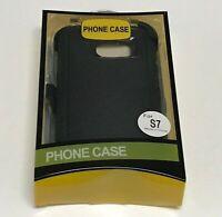 For Samsung Galaxy S7/S7 Edge Defender Case (Belt Clip Fits Otterbox)Black