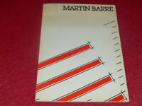 [ART XXe] MARTIN BARRE Rare CATALOGUE EXPOSITION ARC Paris EO 1979