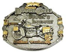 Indian vétéran Boucle de ceinture or 24 ct Motard Classique Vélo Moto Homologué