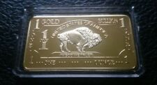Lot of 10- 1 OZ 500 MILLLS of .999 Fine Gold Buffalo Bar Fine Bullion CHRISTMAS!