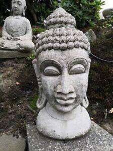 Buddha Kopf aus Beton, 68 cm