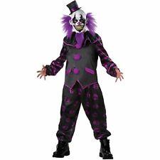 Bearded Clown Costume Scary IT Horror Circus Killer Purple Clown Carnival Medium